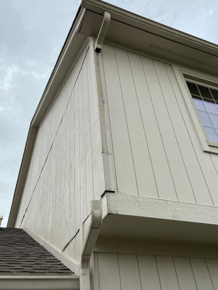Gutter Reattachment - Carmel, Hamilton County, IN - Before