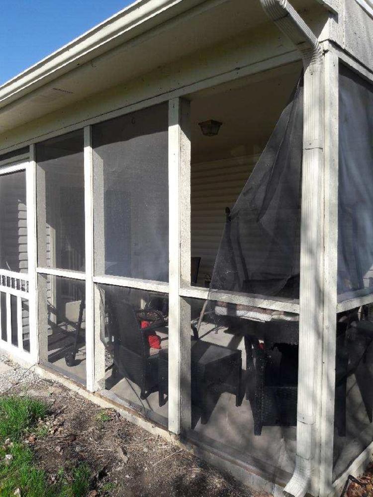 Screen Patio Repair - Noblesville, Hamilton County, IN - Before