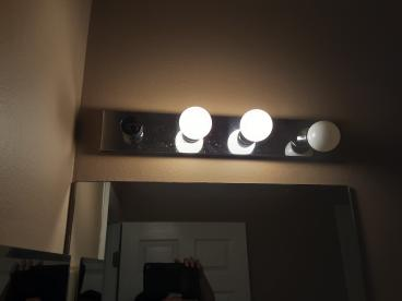 Bathroom light fixture (Before)