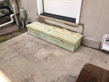 Replaced Exterior Wood Steps