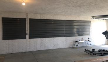 Installed Slatwalls