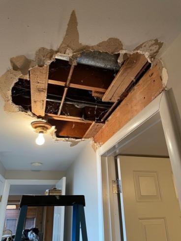 Cottonwood Heights Drywall Repair Before
