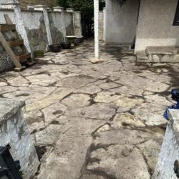 Stone Patio Wash Before
