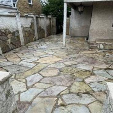 Stone Patio Wash After