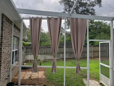 Outdoor Curtain Installation in Tallahassee