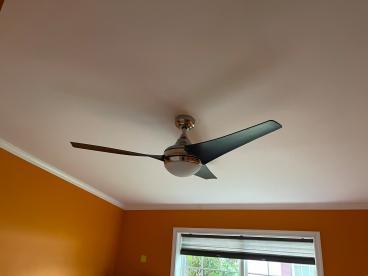 Ceiling fan upgrade in Clayton