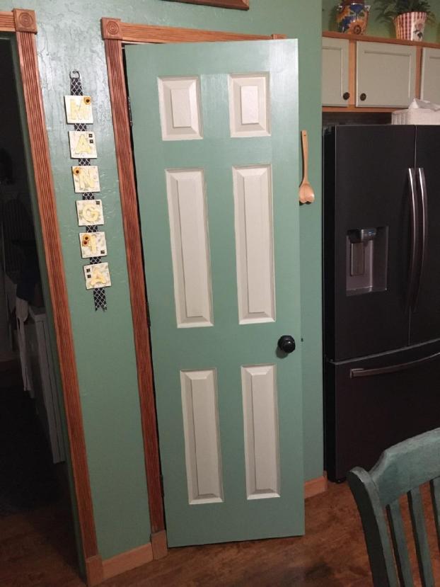 Pantry door being replaced