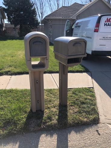 Replaced Mailbox & Post