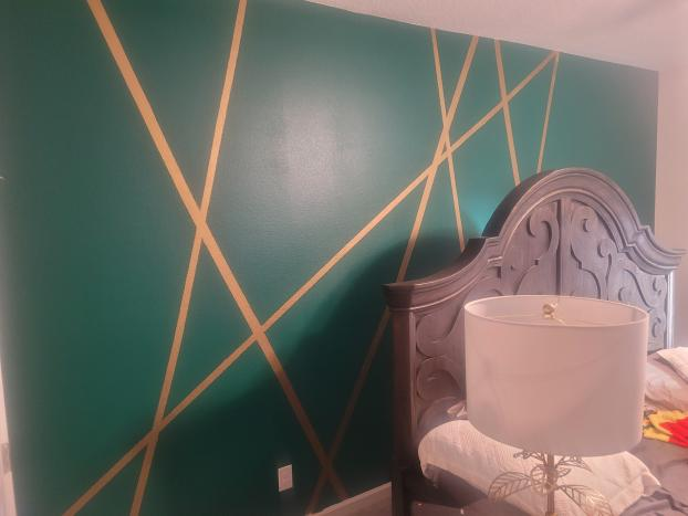 Accent wall (before)
