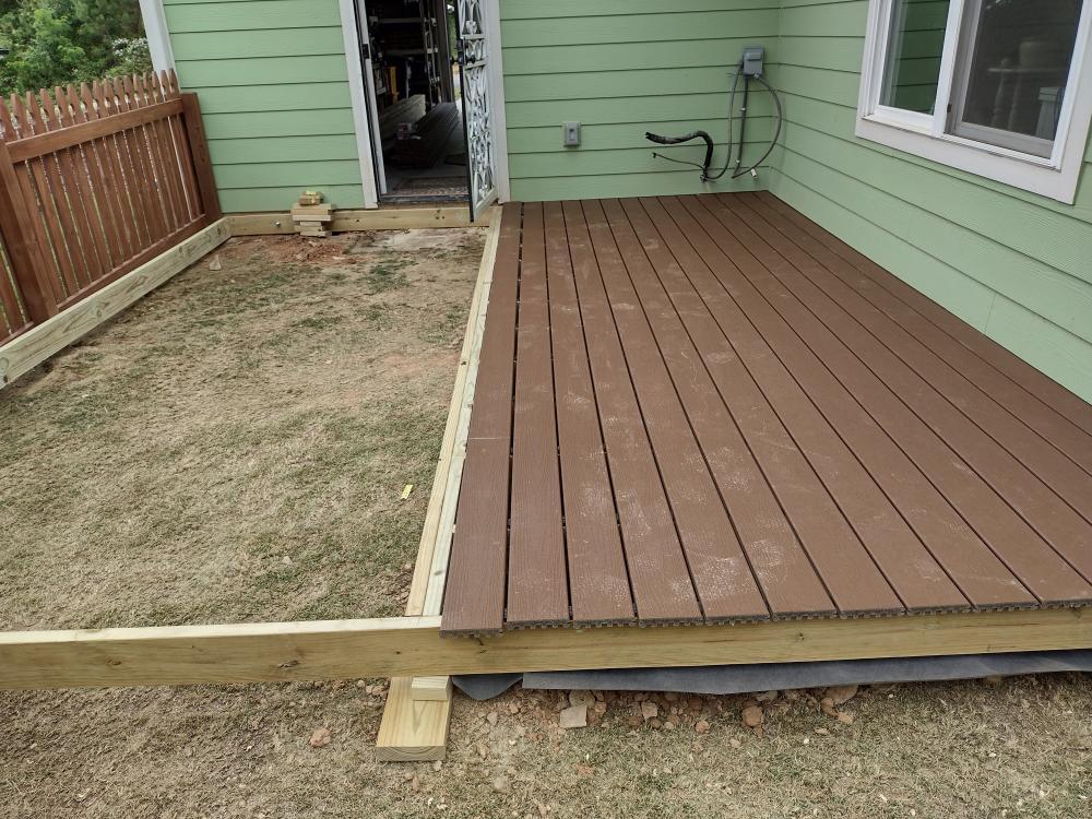 Trex Composite Deck Build in Asheville, NC