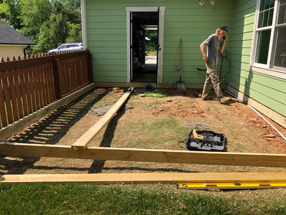 Trex Composite Deck Build Before in Asheville, NC
