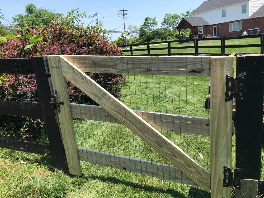 New Wood Gate Installed