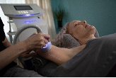 A person's arm being toned with CryoToning