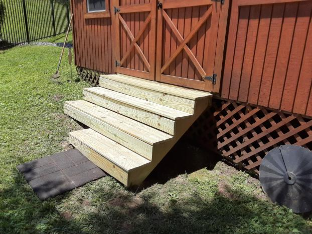 After Shed Stair Replacement