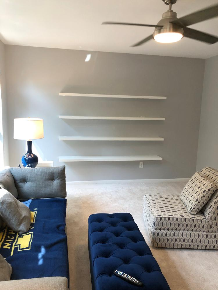 Floating Shelf Installation
