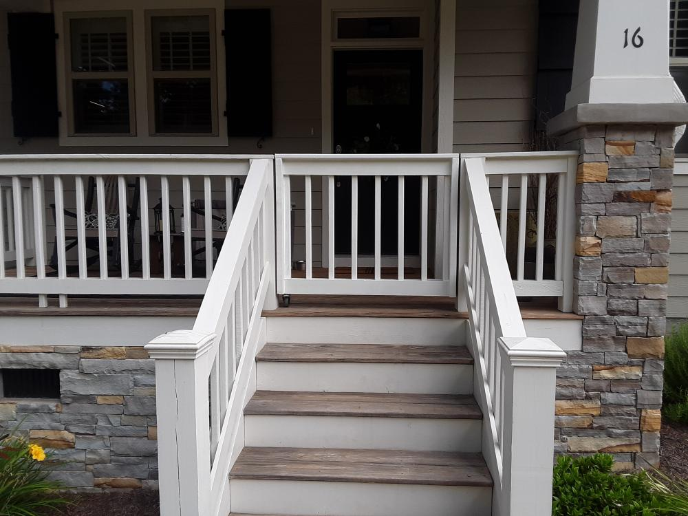 Porch Gate After Picture in Asheville, NC