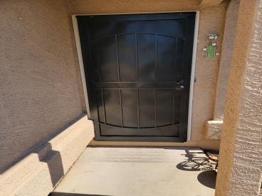 After installation of security door