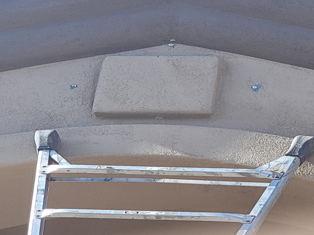 Before installation of rod iron window decoration