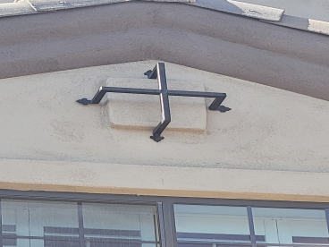 After installation of rod iron window decor