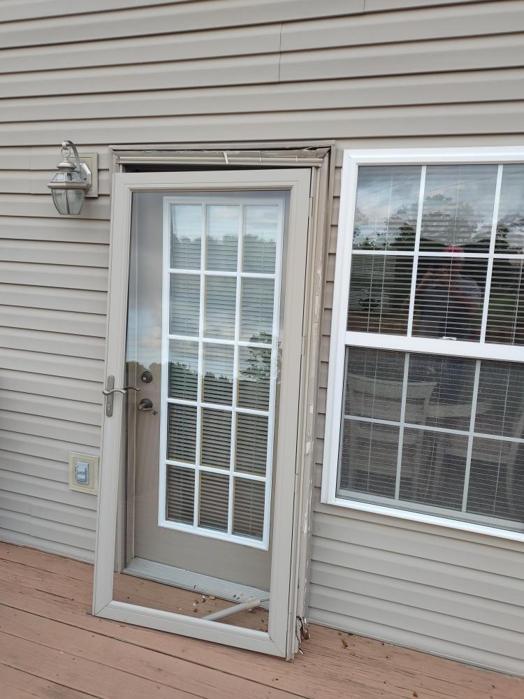 Damaged Storm Door