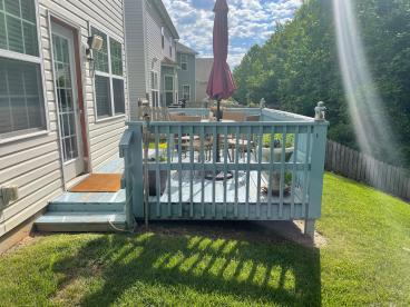 Remove Old Deck and Build a New Extension Deck - Before