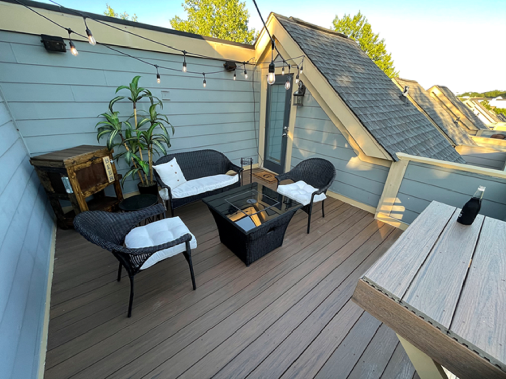 Rooftop Floor Renovation, Bar Table and Painting - After
