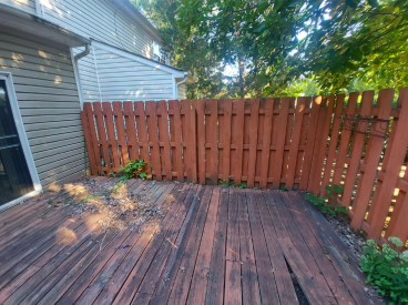 Flooring and Fence Renovation - Before