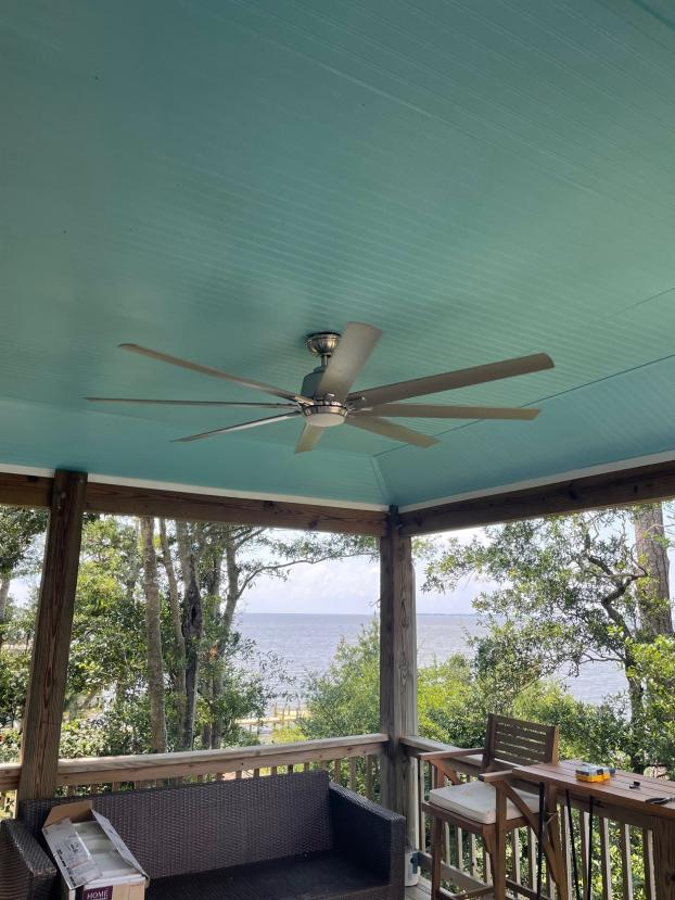 After ceiling and fan install