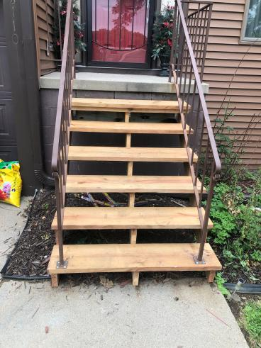 Replacement of stair risers and treads