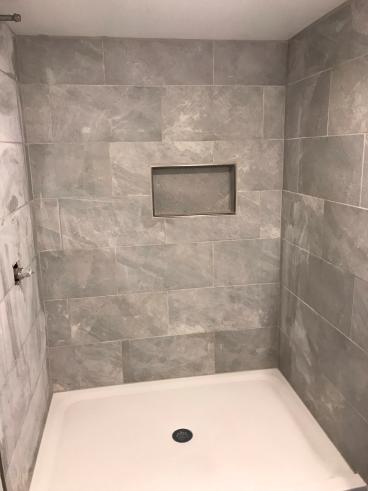 Tile and Grout New Shower