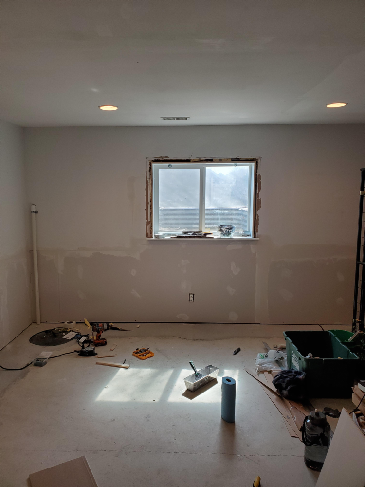 Installed Drywall