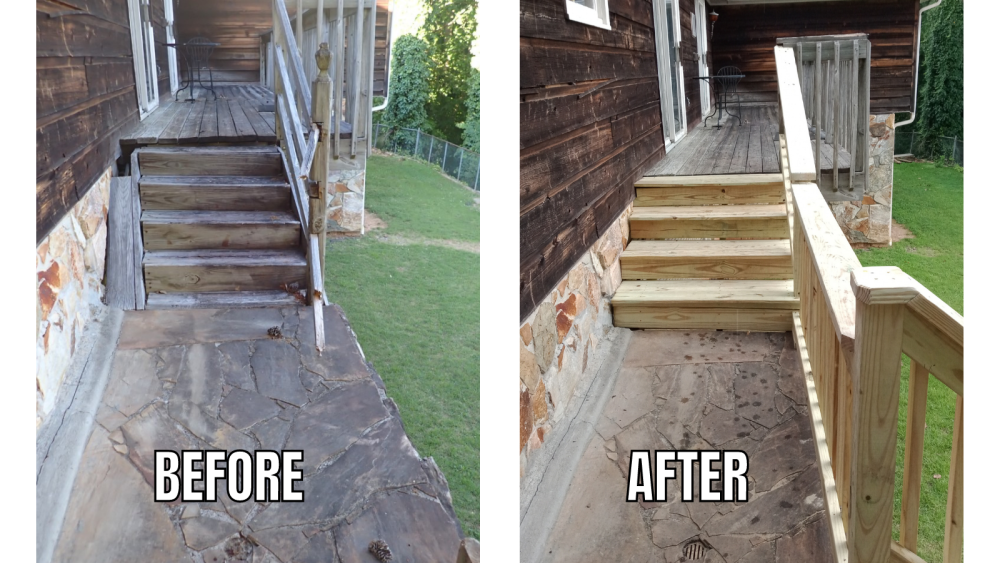 """Deck Stairs and Railing Re-Build �€"""" Roswell, GA"""