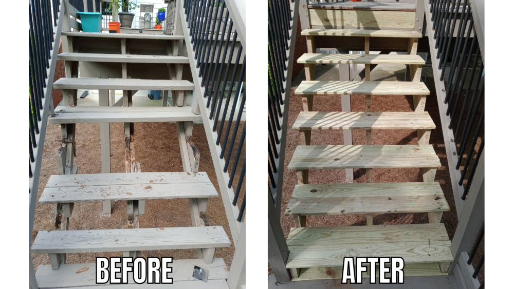 Deck Stairs Re-Built - Roswell, GA