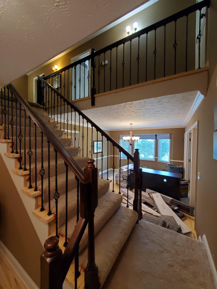 Gorgeous New Railing & Spindles