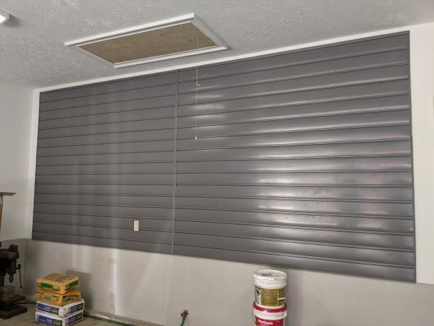 PVC Slatwall Installed