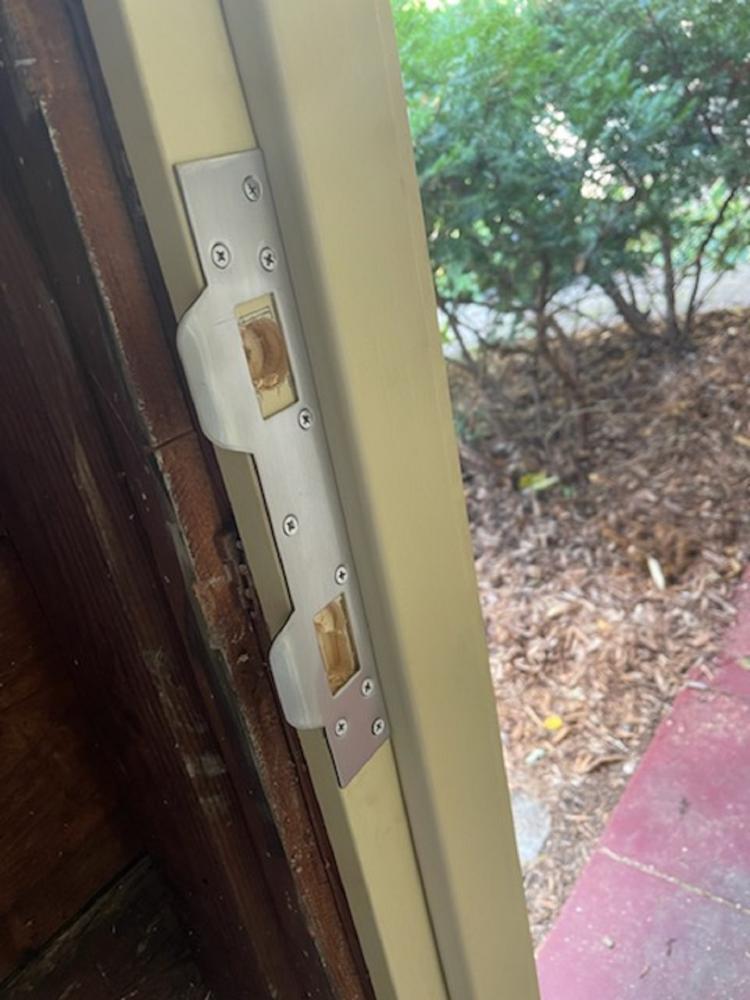 Door Installation with Strike Plate