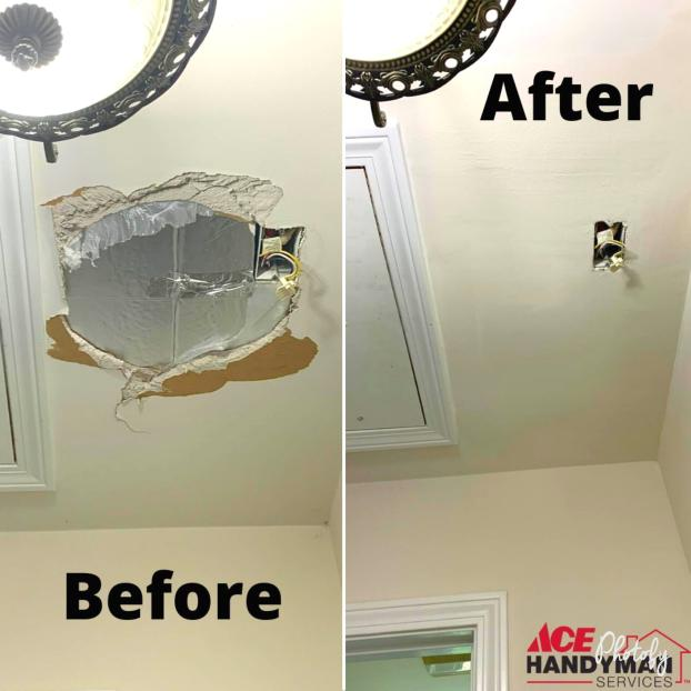 Ceiling hole fixed