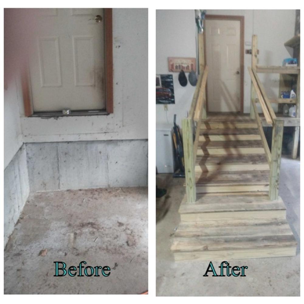 Garage stairway build