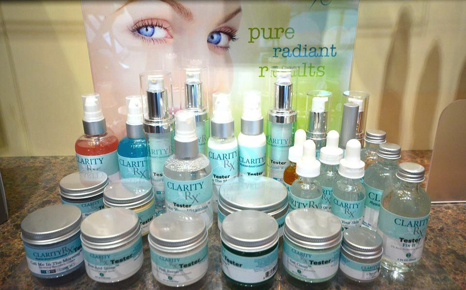 ClarityRX is our boutique skincare line.