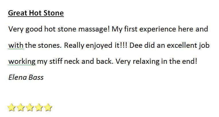 Great Hot Stone Massage