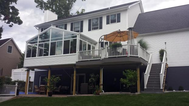 Glass Roof Cathedral Addition and a New Deck