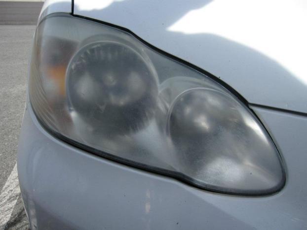 Headlight Restoration Before by Novus Glass Reno NV