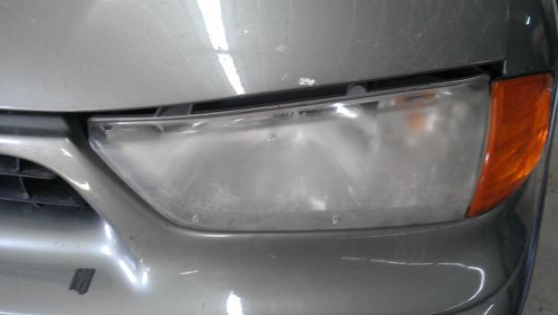 Headlight Buffing (Before)