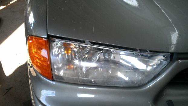 Headlight Buffing (After)