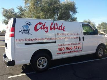 City Wide Plumbing Van Decals Tempe Chandler Arizona