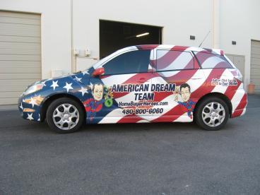 American Dream Team Full Vehicle Wrap Tempe-Chandler Arizona