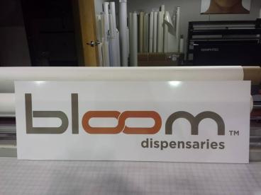 Bloom Dispensaries Back-Lit Lexan Sign Tempe-Chandler Arizona