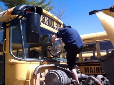 Cyr Bus Lines Windshield Rock Chip Repair Thumbnail