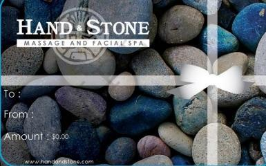 Gift cards available at Hand and Stone Plano, Texas