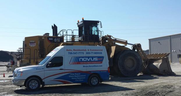 NOVUS Heavy Equipment Glass Service
